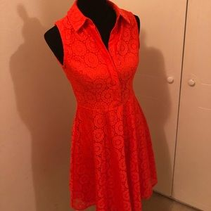 Adorable orange lace dress. Fits like a 6.